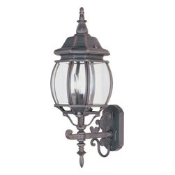 Maxim Lighting - Maxim Lighting 1033RP Crown Hill 3-Light Outdoor Wall Lantern In Rust Patina - Features