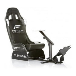 Playseat - Racing Game Chair - Durable black coated fully adjustable framework. High quality leather look black vinyl with officially licensed Forza Motorsport logo. Especially developed for Forza Motor sport enthusiasts. Superior build quality, stability and comfort. Easy to assemble and store due to its patented foldable design. Plug & Play: Compatible with all steering wheels & pedal sets. Set up in 10 minutes, no tools needed. Compatible with all consoles.. Unique foldable design, it uses little space when not in use. The Playseat Forza Motorsport is highly adjustable and very stable. 52 in. L x 20 in. W x 39 in. H (50 lbs)