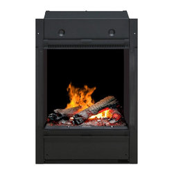 Dimplex - Dimplex Opti-Myst Pro Portrait Electric Fireplace Multicolor - BOF4056L - Shop for Fire Places Wood Stoves and Hardware from Hayneedle.com! The Dimplex Opti-Myst Pro Portrait Electric Fireplace uses patented ultrasonic technology to create the world's most authentic flameless fireplace experience. This revolutionary electric fireplace uses a water-filled tank to create a light-reflecting mist that uncannily imitates the appearance of flame and smoke. A fan-forced heater complements this lifelike display with comfortable warmth for rooms up to 400 square feet. Energy-efficient and eco-friendly with no harmful particulates or emissions this freestanding fireplace can operate for up to 14 to 17 hours before requiring a water tank refill.About DimplexDimplex North America Limited is the world leader in electric heating offering a wide range of residential commercial and industrial products. The company's commitment to innovation has fostered outstanding product development and design excellence. Recent innovations include the patented electric flame technology - the company made history in the fireplace industry when it developed and produced the first electric fireplace with a truly realistic wood burning flame effect in 1995. The company has since been granted 87 patents covering various areas of electric flame technology and 37 more are pending. Dimplex is a green choice because its products do not produce carbon monoxide or emissions.