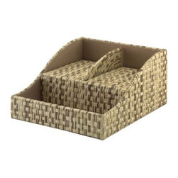 kathy ireland Office by Bush Furniture Volcano Dusk Grass Weave Charging Station - Please note this product does not ship to Pennsylvania.
