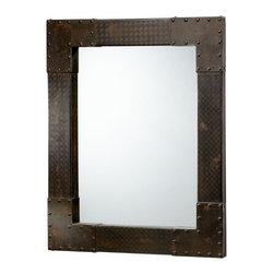 Rustic Black Rectangle Large Wall Mirror - *Lasalle Mirror