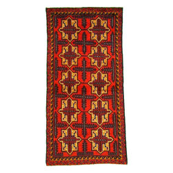 eSaleRugs - 3' 6 x 6' 9 Balouch Persian Rug - SKU: 22139805 - Hand Knotted Balouch rug. Made of 100% Wool. Brand New.
