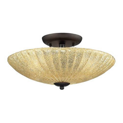 Elk Lighting - Elk Lighting 10281/3 Luminese Transitional Semi Flush Mount Ceiling Light - Elk Lighting 10281/3 Luminese Transitional Semi Flush Mount Ceiling Light in Aged Bronze.
