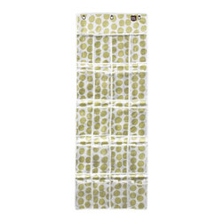 Simply Stashed - The Original Stash-Lime Crazy Dot - The Original Stash is perfect for shoes, kitchen organization, kid's rooms, craft rooms and more!  It's the stylish way to organize.