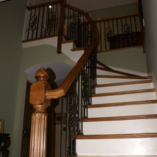 Traditional Staircase by Nichols Design Studios
