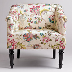 Charlotte Chair - I love this colorful floral reading chair. It's the perfect way to incorporate color and pattern without being totally overbearing.