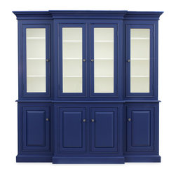 Shop Antique China Cabinet In French Blue Distressed Products on Houzz