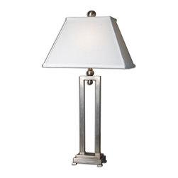 Uttermost - Uttermost 27800 Conrad Brushed Aluminum Table Lamp - Uttermost 27800 Conrad Brushed Aluminum Table Lamp