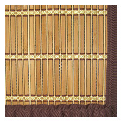 Pearl River Bamboo Rug - Bamboo rugs have been a traditional floor covering in the Far East for centuries. They add a touch of organic, practical elegance to any space. Our bamboo rugs are made of the finest quality, sustainably harvested bamboo in the world for supreme durability. Kiln-dried bamboo is machine-planed and sanded for a smooth finish. This classic collection offers a variety of intriguing designs and brilliant colors to choose from. Mitered polypropylene borders provide resilience and clean design. 100% Moso bamboo is renowned for its durability and is sustainably harvested in its native habitat in the Anji Mountains of China. Kiln-dried bamboo is machine-planed and sanded for a smooth finish. Patented, ventilated, non-skid backing cushions while keeping rug in place.