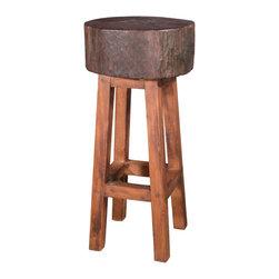 Groovystuff - Groovystuff Stump Seat Bar Chair in Honey - Features: