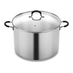 Cook N Home - Cook N Home 18.5-Quart Stainless Steel Canning/Stock Pot - This Cook N Home Canning pot and Stockpot is made of durable and elegant stainless steel with a riveted handle for strength and durability. The reinforced rim of this pot prevents body deformation during long-term use.