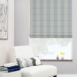 "The Shade Store - Cascade Roman Shades by The Shade Store - Meticulously handcrafted in our state-of-the-art workroom, The Shade Store's cascade roman shades are the epitome of style and sophistication. Hand stitched back pleats, and bars sewn every 5-7"", account for this shades beautiful appearance.  Choose from an exclusive collection of over 400 luxurious fabrics. Free privacy and blackout linings are available to help you find the right amount of light control and privacy.  Add a decorative border to your shade for a truly unique look.  All shades are hung and tested prior to shipment top ensure quality and proper functionality. Designed + Assembled in the USA. Ships in 10 Days or Less!  Backed by The Shade Store's Satisfaction Guarantee."