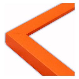 The Frame Guys - Narrow Flat Orange Picture Frame-Solid Wood, 12x12 - *Narrow Flat Orange Picture Frame-Solid Wood, 12x12