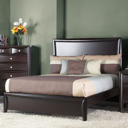 Alpine Furniture - Laguna Queen Panel Bed with Low Footboard - Laguna Queen Panel Bed with Low Footboard