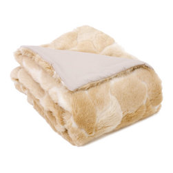 Natural Faux Fur Throw - Have no fear: No animals were harmed in production of this furry throw. Snuggle up in this fabulousness, and you'll forget how much you despise winter.