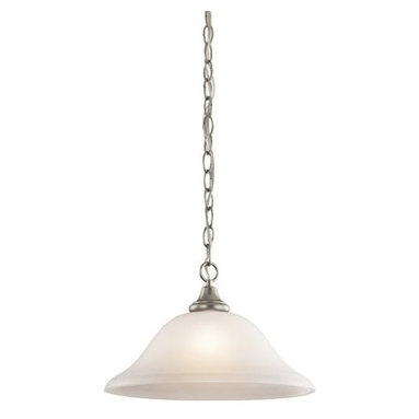 Kichler - Kichler 43172NI Monroe Single-Bulb Indoor Pendant with Dome-Shaped Glass Shade - Product Features: