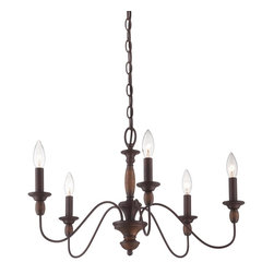 Quoizel - Quoizel HK5005TC Holbrook Chandelier - The Holbrook collection is Americana at its finest.  It features a Tuscan Brown finish that is warm and compliments the simplicity of this collection.