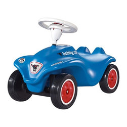 Digital Complex Inc - Big Bobby Car Riding Push Toy - Blue - BIG-56201 - Shop for Tricycles and Riding Toys from Hayneedle.com! The Big Bobby Car is an award-winning push toy designed with an extra large steering wheel a comfortable seat and a smooth wheel driving motion. Crafted from durable plastic to withstand the wear and tear of child's play this European vehicle is extremely resistant to breakage and can carry up to 220 pounds. And parents this piece has been tested by the German TUV- an independent stringent consumer testing agency. Ships fully assembled.