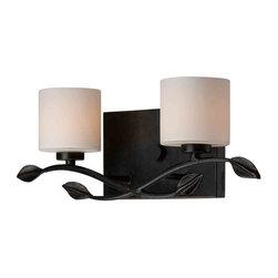 Quoizel Lighting - Quoizel ERN8602IB Erin Imperial Bronze 2 Light Vanity - 2, 60W Frosted G9 Halogen