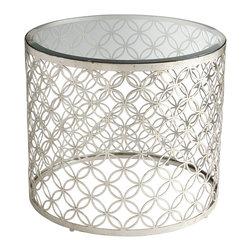 Cyan Design - Cyan Design 06345 Silver Leaf Dante Table - Cyan Design 06345 Silver Leaf Dante Table