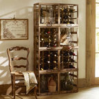 Modular Wine Storage - I love the look of this wooden crate storage for wine. It would be great for all sorts of things.