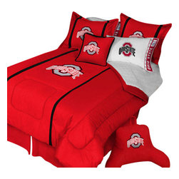 Store51 LLC - Ohio State Buckeyes Twin Comforter Pillow Sham MVP Bed Set - Features: