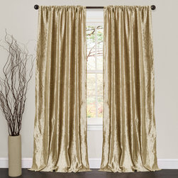 Lush Decor - Lush Decor Velvet Dream Gold 84-inch Curtain Panel Pair - Some fabric were made to be displayed because of their beauty and there is no better example of this than the Velvet Dream curtains. The plush velvet fabric is soft to the hand and the curtains hang elegantly.