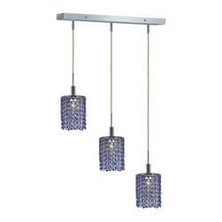 "PWG Lighting / Lighting By Pecaso - Wiatt 3-Light 14.5"" Crystal Ceiling Pendant 1091D-O-R-SA-RC - Whether shown individually or as a collection, our Mini Crystal Chandeliers are stunning in any fashion. This stylish collection offers stunning crystal in a range of colorful options to suit every decor."