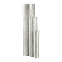 """Amoretti Brothers - Amoretti Brothers Silver plated Vases, set of 3 - Beautiful set of 3 vases. Silver plated copper. Hand-hammered. Sizes are 9.8"""", 14.8"""",19.7"""". Gift Box available."""
