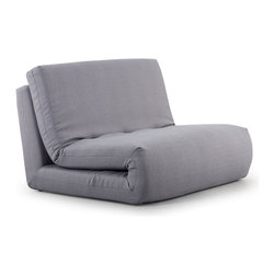 ZUO MODERN - Polygon Sleeper Chair Mineral Gray - The Polygon Sleeper is modern and sleek with its all fabric exterior and its twin sized sleeper shape.