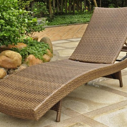 International Caravan - Multi Positional Chaise Lounge - Contemporary style. Beautiful and unique European design. Equipped with a rust free aluminum frame. All weather resistant. UV light fading protection. Four multi position for various comfort zones. Made from premium outdoor wicker resin. Aluminum antique brown color. Assembly required. 25 in. W x 76 in. D x 15 in. H (30 lbs.)