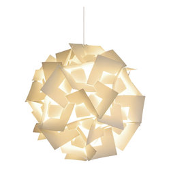 Akari Lanterns - Squares Hanging Pendant Lamp, Medium - Bring the luminous magic of a Chinese paper lantern into your home with this square-cut version, which is a cinch to capture and hang from the ceiling with its 12-foot cord. The soft glow it creates bathes the room in milky light and sets the mood for relaxation, happiness and wonder. Beautiful lit or simply serving as a sculptural focal point, it comes in three sizes to match the scale of your space and the bounds of your imagination.
