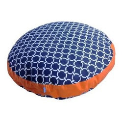 Winston Dog Bed in Citrus - Maybe it's because my school colors are orange and blue but I think the pattern on this bed is fresh and fun.