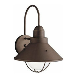 Kichler Lighting Seaside Outdoor Sconce - Simple and nautical, this lovely fixture adds light and ambiance to your outdoor room.