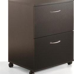 "Nexera - Essentials 2 Drawer Mobile File - Black - Mobile Filing Cabinet with two File drawers for legal size files. Casters allow easy mobility;Features: Mobile File Cabinet;2 File Drawers;Collection: Essentials;Finish: Black;Weight: 52 lbs.;Dimensions: 18.625""W x 17.625""D x 26.625""H"