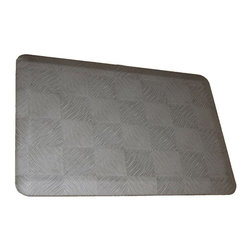 Rhino Anti-Fatigue Mats - Comfort Mats: Rhino Anti-Fatigue Mats Safety Supplies Housewares Dorado Steel - Shop for Flooring at The Home Depot. Our Comfort Craft Housewares Premium line was designed to bring commercial grade comfort to the home. These mats come in 80 different styles and colors to match any existing color schemes in your home. Our Housewares line has set a new standard for high end kitchen matting. The days of crinkled wrinkled and rolled up mats that constantly require straightening and cause trip hazards are over. This mat will stay where you put it exactly like you want. No sliding or wrinkling. Color: Steel Silver.