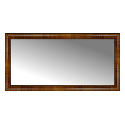 """Posters 2 Prints, LLC - 44"""" x 22"""" Belmont Light Brown Custom Framed Mirror - 44"""" x 22"""" Custom Framed Mirror made by Posters 2 Prints. Standard glass with unrivaled selection of crafted mirror frames.  Protected with category II safety backing to keep glass fragments together should the mirror be accidentally broken.  Safe arrival guaranteed.  Made in the United States of America"""