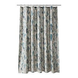 Threshold Ikat Mix Shower Curtain, Cool - An ikat shower curtain is a great way to freshen up a bathroom with just the right amount of pattern.