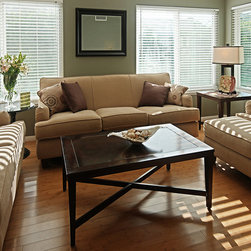 Mini Blinds | Eclectic Living Room | Green & Brown | Traditional Furniture & Mod - Complete the design – Mini Blinds