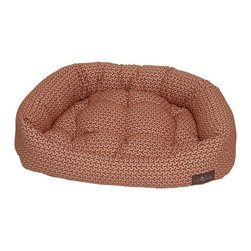 Jax & Bones - Jax & Bones Eve Napper Bed Eve Orange Small - The Jax and Bones Eve Napper beds are made of the premium quality cotton fabric providing a luxurious experience for your dog. The bed is made from heavy weight fabrics that are easily washable and amazing to touch. Your dog will simply love to snuggle and lean into the super soft eve lounge bed.