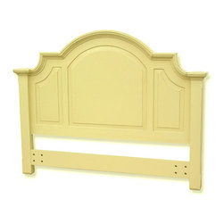 Tradewinds - Arched Cottage Headboard, Yellow Queen - To make your Chesapeake queen panel bed look more elegant than ever add a Arched Full/Queen Headboard to it. This headboard is exquiste in design and aesthetic in appeal. With arch on its side makes you feel no less than a king when sleeping on your bed. Made from plantation grown and kiln-dried mahogany and mindi as well as premium hardwood veneers make it sturdy and durable. Its availabilty in different color options makes makes it much more irrestible. This item is hand-made, hand-painted, and hand-rubbed to create a lightly-distressed look. It easily attaches to any standard bed frame.