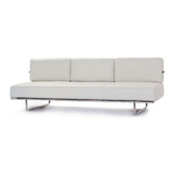 Fine Mod Imports - Flat Le Corbusier White Sofa Bed - Features: