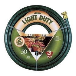 Apex Basic Garden Hose 5/8X50' - For light gardening needs. E-Z Tite brass couplings for secure connections at the faucet.