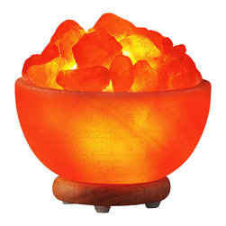 Healing Embers Salt Lamp - This unique lamp is carved in the shape of embers glowing in a cauldron. Hand-carved from the finest pink Himalayan salt, this lamp is a gorgeous piece of art and a warm focus for healing meditation.