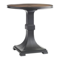Stanley Furniture - Montreux-Lamp Table - A border of Truffle Lacquer encircles the quartered walnut of the Lamp Table.
