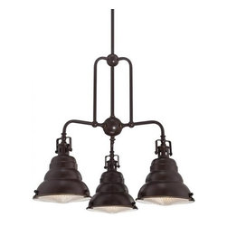 Quoizel - Quoizel EVE5103 Eastvale 1 Tier Chandelier with 3 Lights - Decorate your home in style with this exuberant 3 light 1 tier chandelier.Features: