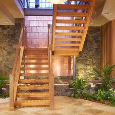 Contemporary Staircase by Gabberts Design Studio