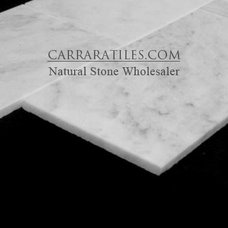 Modern Tile Carrara Marble Italian White Bianco Carrera 4x12 Marble Tile Polished