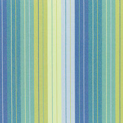 """Sunbrella USA - 5608 Sunbrella Seville Seaside - Sunbrella indoor/outdoor high performance fabric.  5 year warranty against fade, mildew and water resistance. 100% Solution-dyed Acrylic Yarns.  54"""" wide. Stripe. Manufactured in the United States.  Machine wash - cold water. NO DRYER/HEAT."""