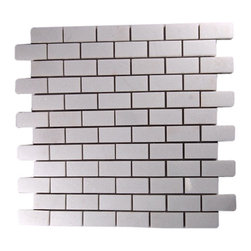 """GlassTileStore - Polished White Thassos 1x2 Marble Tile - POLISHED WHITE THASSOS 1X2 GLASS TILE  This striking white thassos gives a high-end, timeless look to any kitchen, bathroom or any decorated room. The mesh backing not only simplifies installation, it also allows the tiles to be separated which adds to their design flexibility.      Chip Size: 1"""" x 2""""   Color: White Thassos   Material: White Thassos   Finish: Polished   Sold by the Sheet - each sheet measures 12"""" x 12"""" (1 sq. ft.)        - Glass Tile -"""